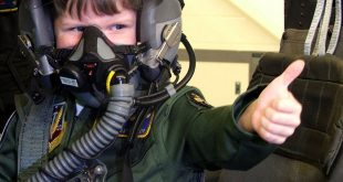 make a wish icon child in fighter plane