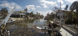 hurricane irma debris in key west canal