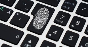 Protect Your Identity icon thumbprint on keyboard
