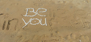 bruce turkel icon be you slogan on beach